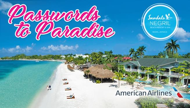 Passwords to Paradise: Sandals Negril Beach Resort & Spa