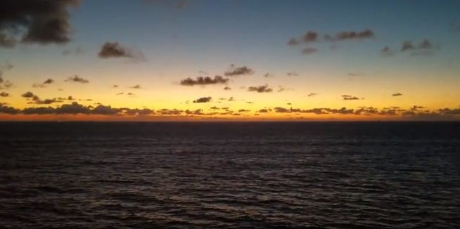 Check Out The Sunset On The Disney Dream!