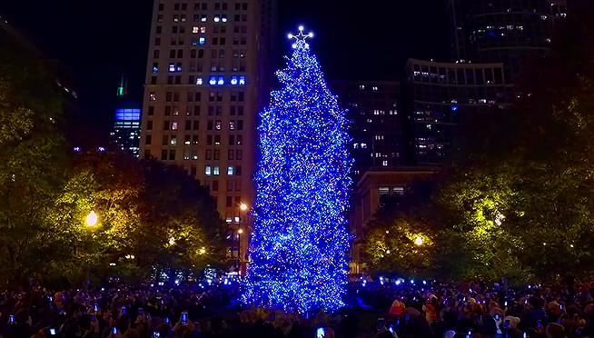 Chicago receives its Christmas tree in time for Halloween ...