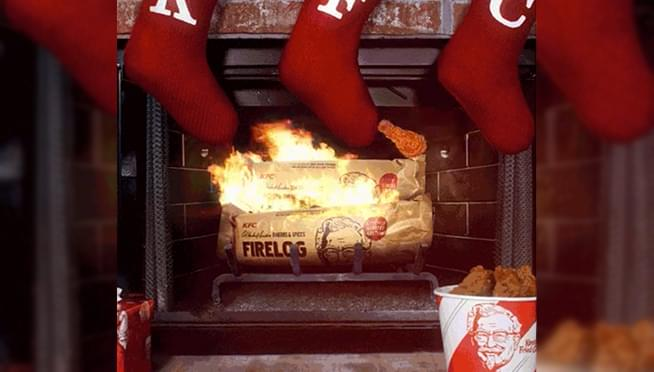 KFC debuts fried chicken-scented 'Firelogs' ahead of Christmas