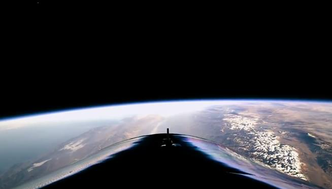Test of Virgin Galactic's tourism rocket ship reaches space