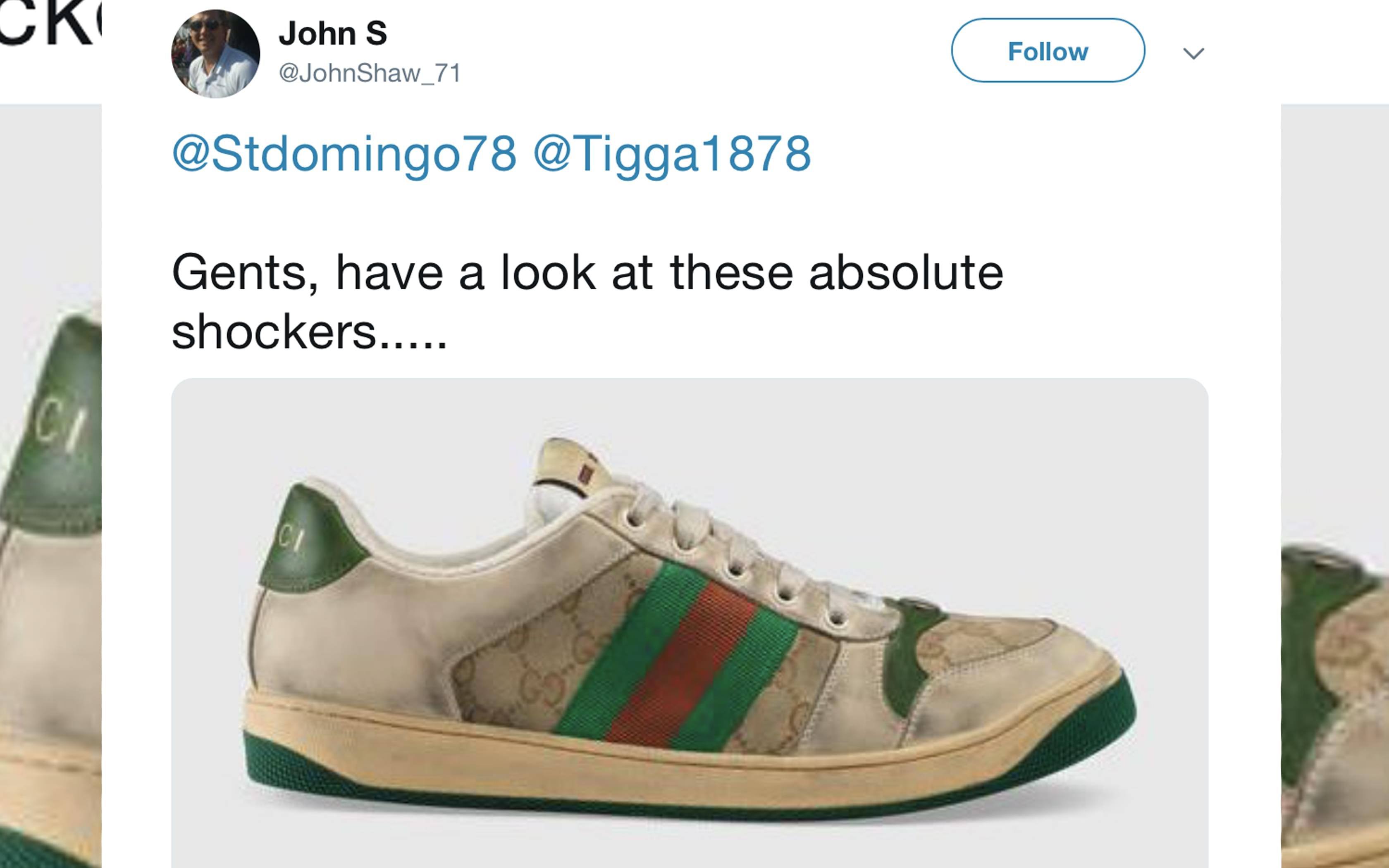 Gucci Is selling $690 sneakers that are designed to look old and dirty
