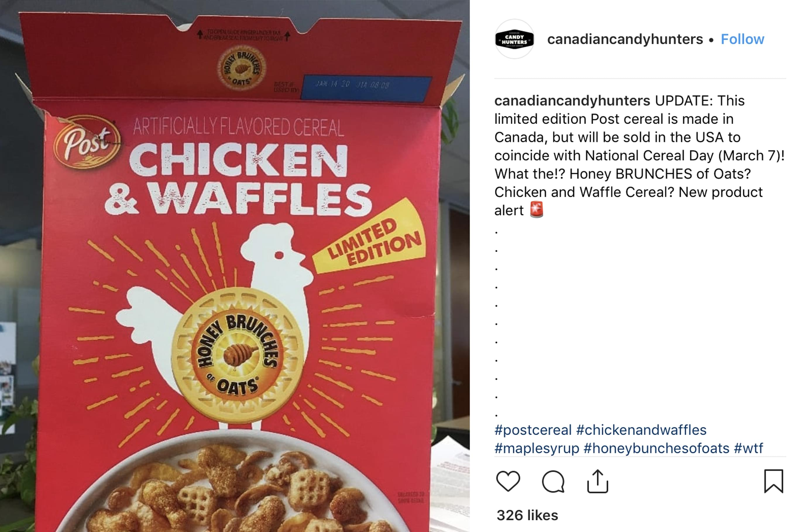 Chicken & Waffles and Maple Bacon Donuts cereals are coming soon!