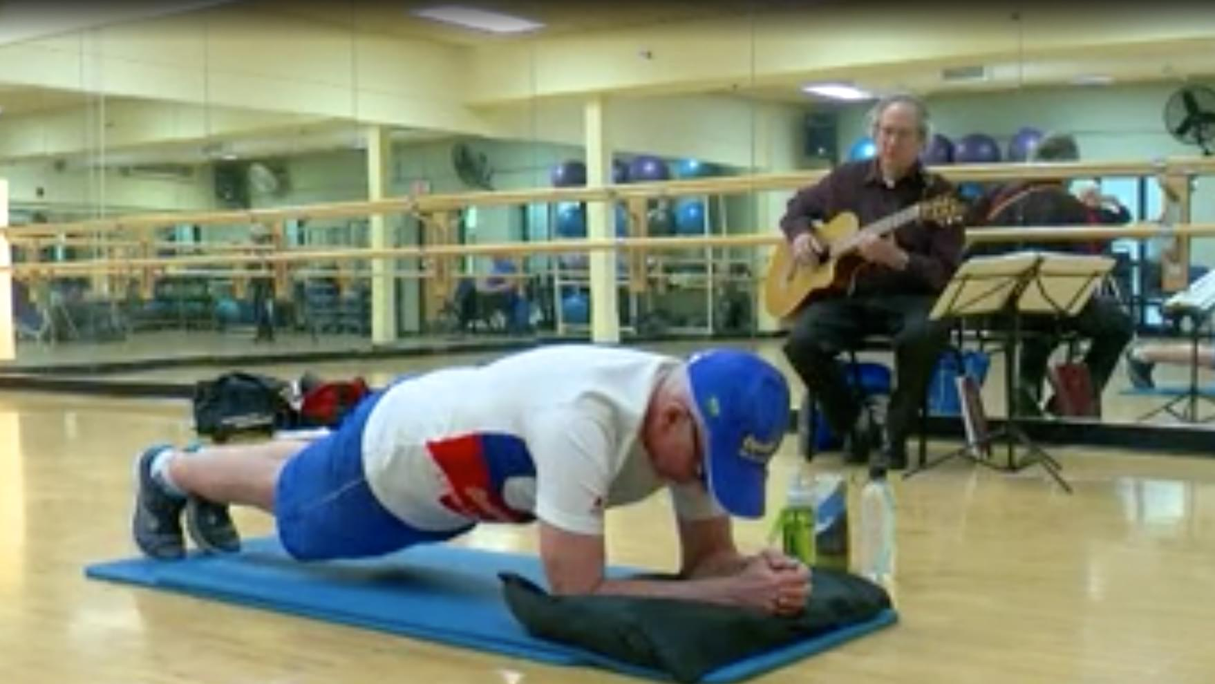 71-year old breaks planking world record