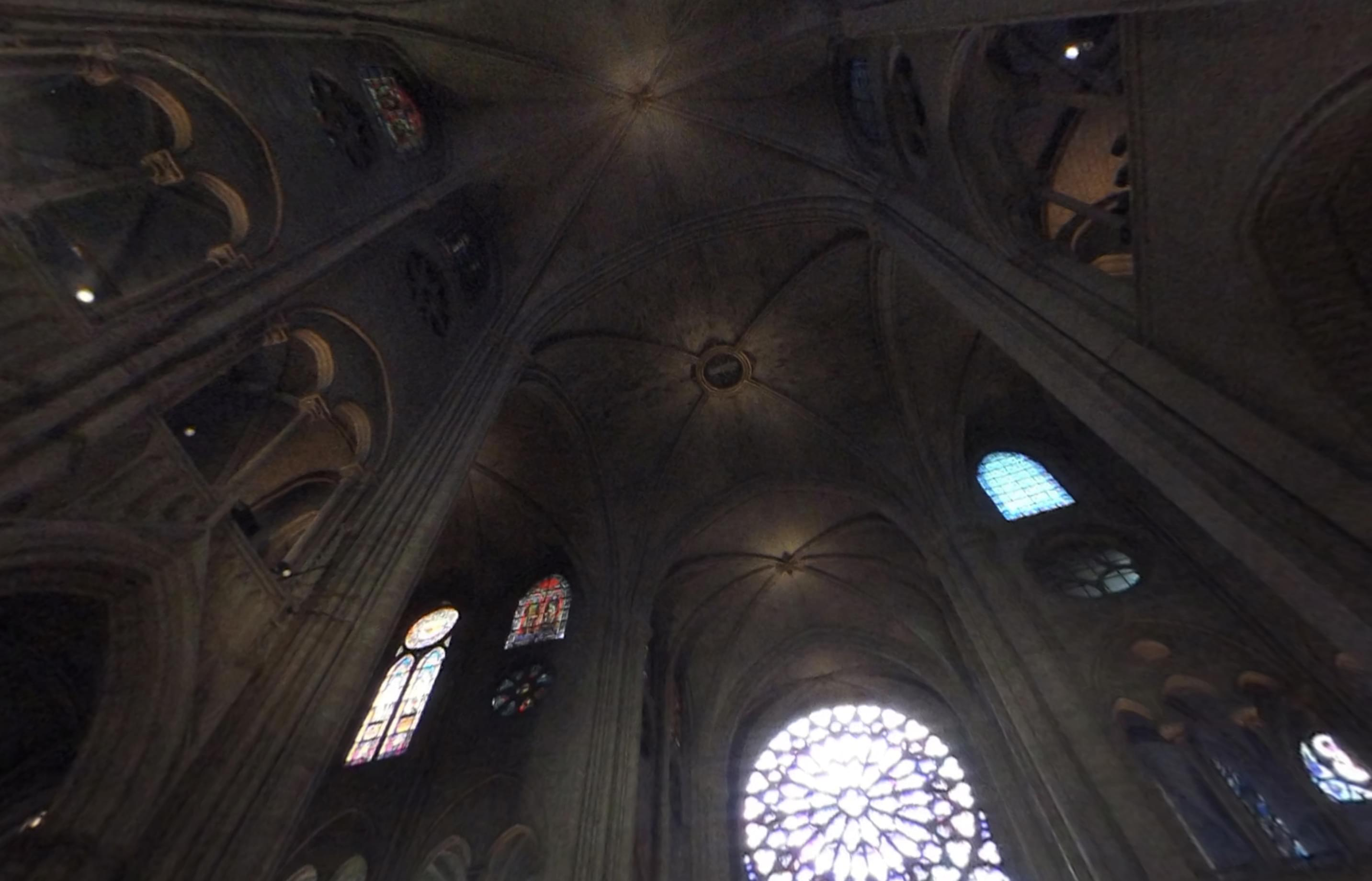 See 360 Video of the inside of Notre Dame