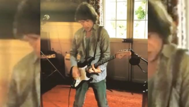 Mick Jagger uploads clip of him rocking out on guitar
