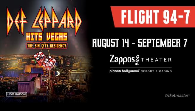 Flight 94-7 – See Def Leppard in Las Vegas