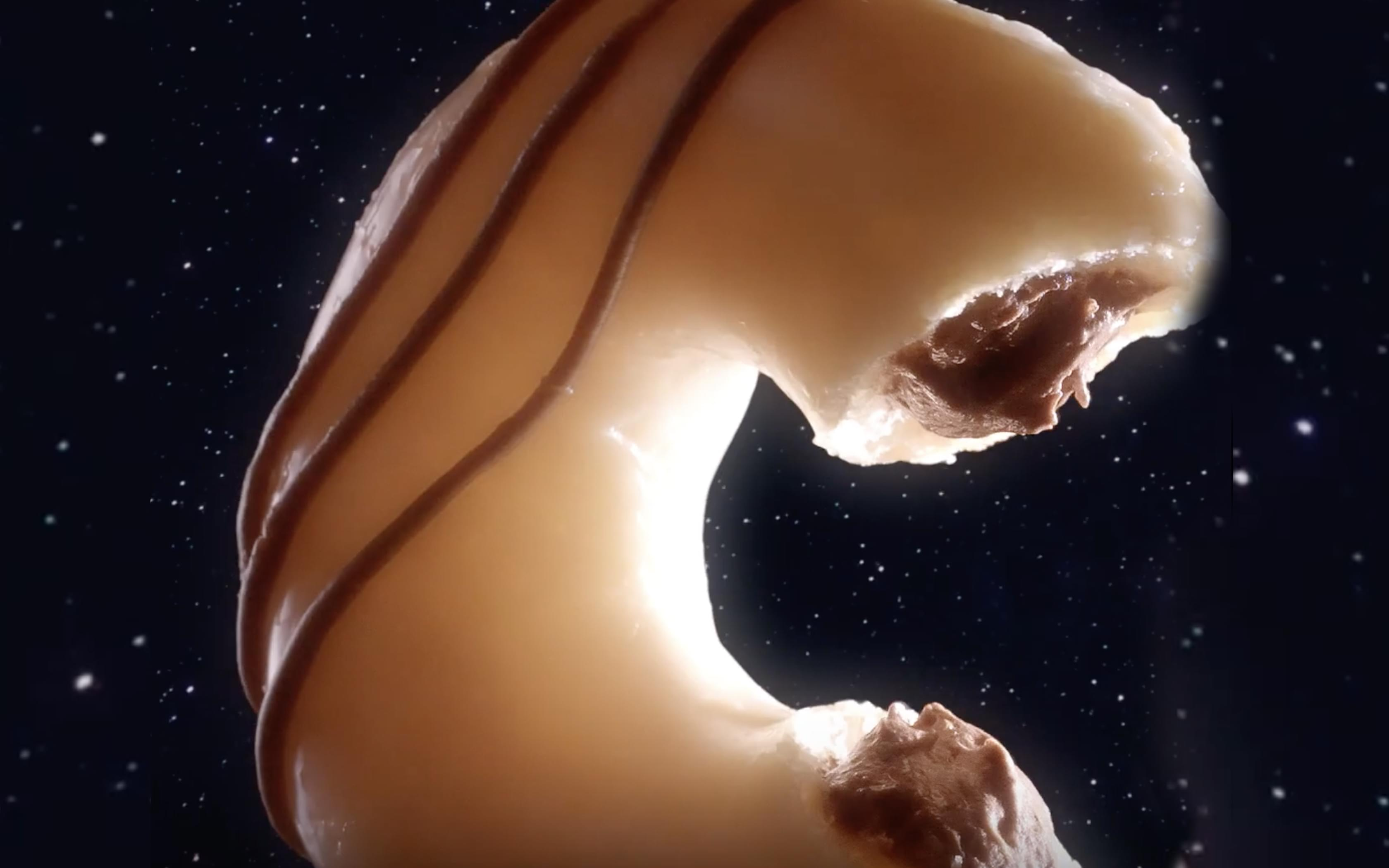 Krispy Kreme made a kreme-filled original glazed donut to celebrate The Moon Landing's 50th anniversary