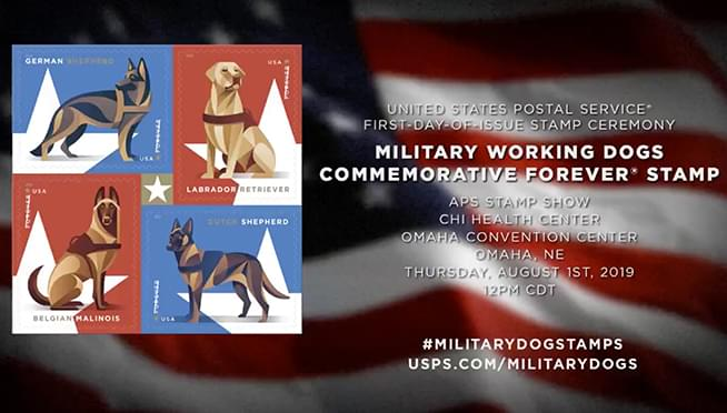 U S  Postal Service honors military dogs with new 'Forever Stamps