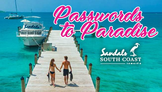 Password to Paradise – Win A Trip to Sandals South Coast in Jamaica