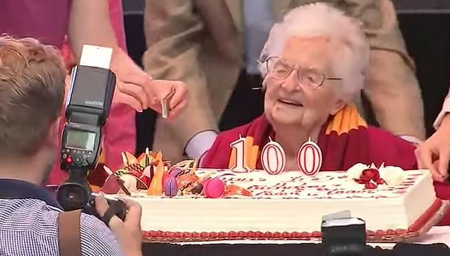 Sister Jean's 100th Birthday celebrated at Loyola University Chicago's campus