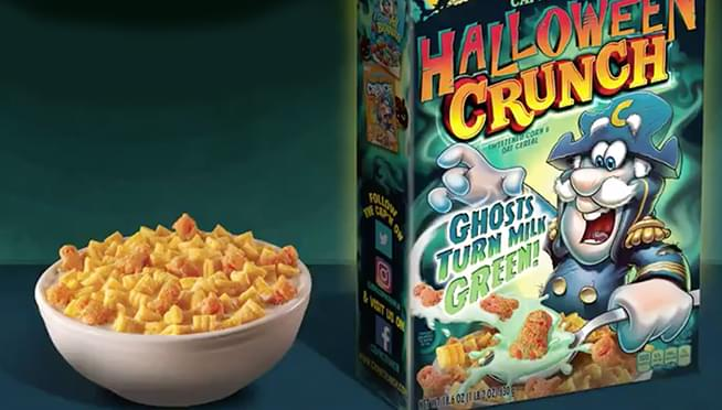 Cap'n Crunch Halloween Crunch Cereal will turn your milk green