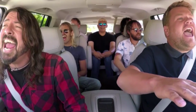 Foo Fighters Dominate Carpool Karaoke