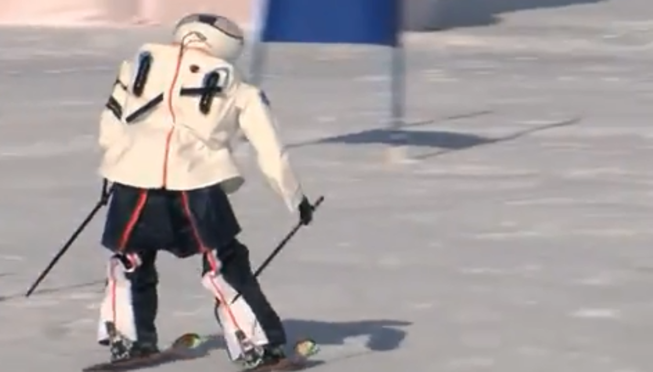 Sick of the Winter Games? Watch robots compete on skis.
