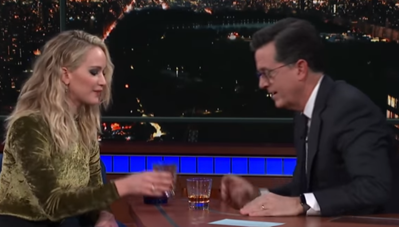 Watch Jennifer Lawrence knock back 3 rum shots