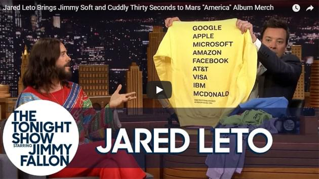 Jared Leto On The Tonight Show Starring Jimmy Fallon
