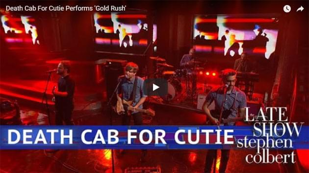 Death Cab For Cutie Performs On The Late Show with Stephen Colbert