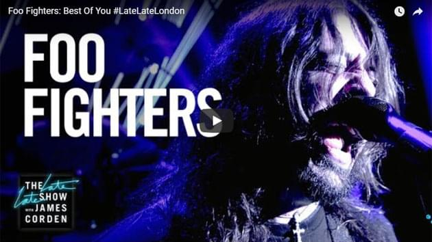 Foo Fighters Perform On The Late Late Show with James Corden