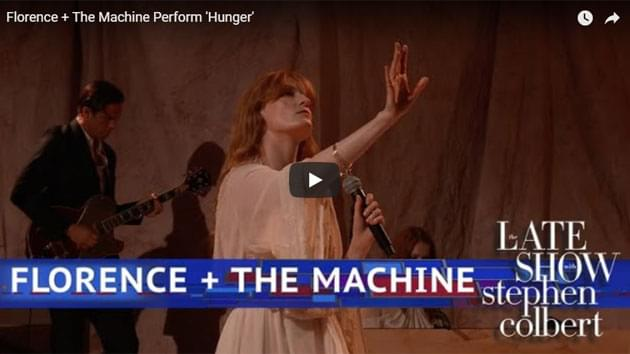 Florence + The Machine Perform On The Late Show with Stephen Colbert