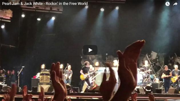 Jack White Joins Pearl Jam On Stage