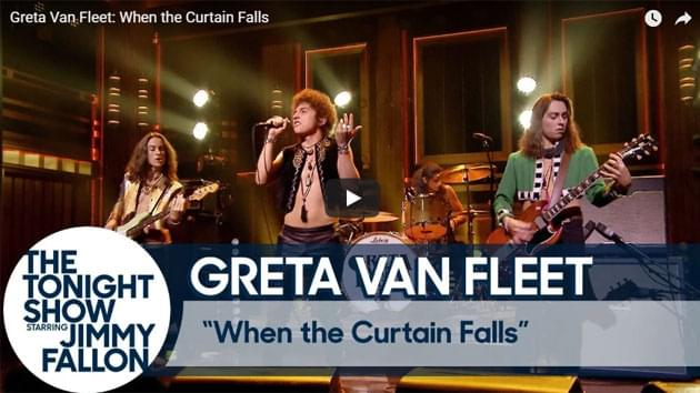Greta Van Fleet On The Tonight Show Starring Jimmy Fallon