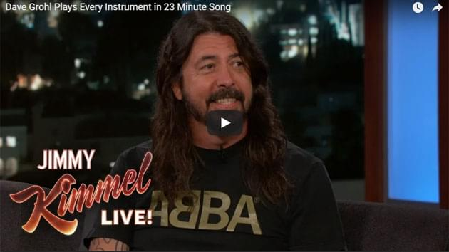 Dave Grohl on Jimmy Kimmel Live