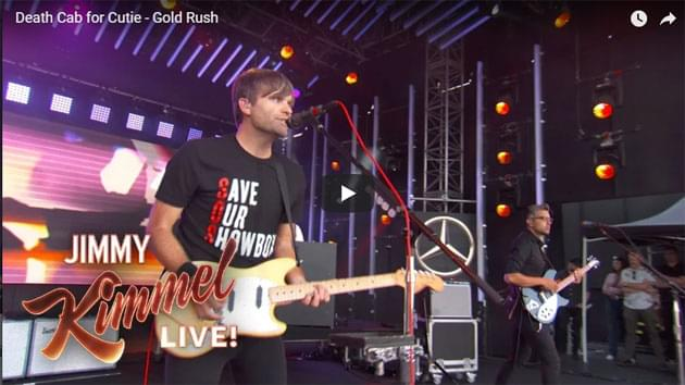 Death Cab for Cutie Perform on Jimmy Kimmel Live