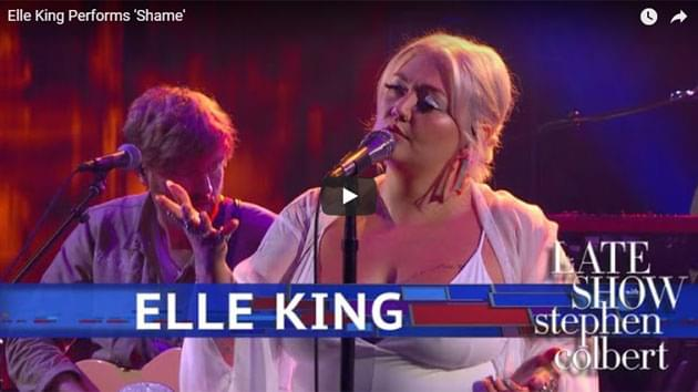 Elle King Performs on The Late Show with Stephen Colbert