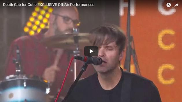 Death Cab for Cutie Off-Air Performance on Jimmy Kimmel Live