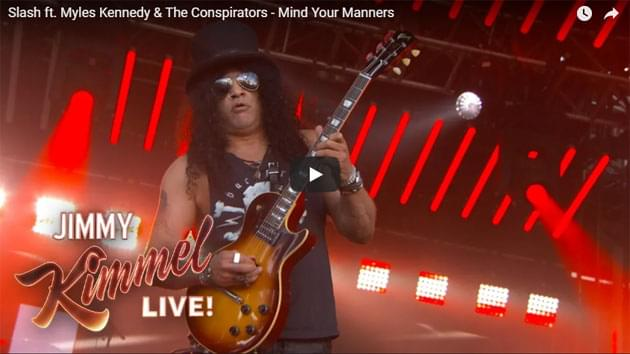 Slash ft. Myles Kennedy & The Conspirators Perform On Jimmy Kimmel Live
