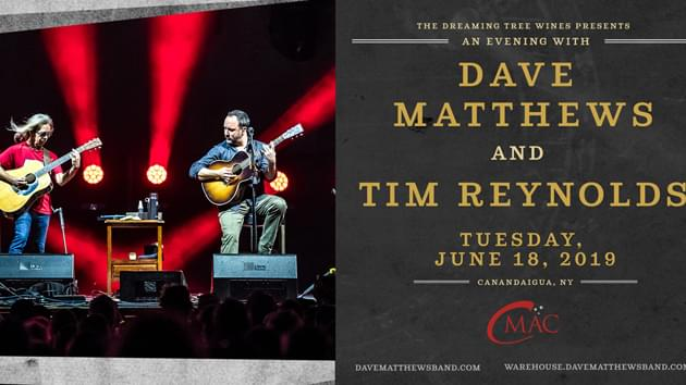An Evening With Dave Matthews and Tim Reynolds | June 18th