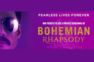 ENTER TO WIN: Bohemian Rhapsody movie tickets