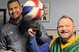 "AUDIO: Harlem Globetrotter ""El Gato"" in studio"