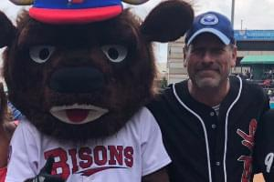 VIDEO: Rob Throws Out the 1st Pitch at the Bisons Game!