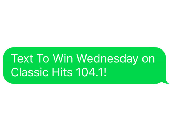 Text To Win Wednesday