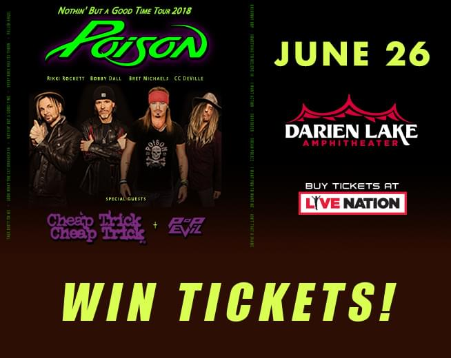 Win Poison and Cheap Trick Tickets