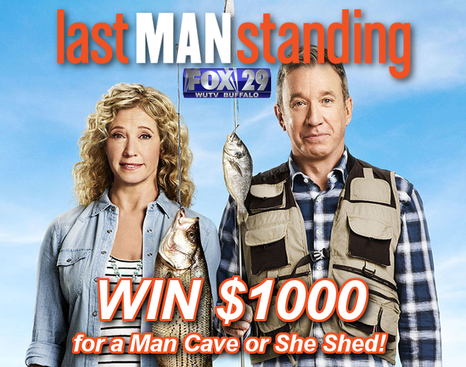 Win $1000 for a new Man Cave or She Shed