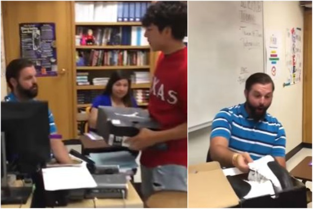 Teacher Gets Surprised When Student Gifts Him With Shoes He's Wanted Since He Was 12