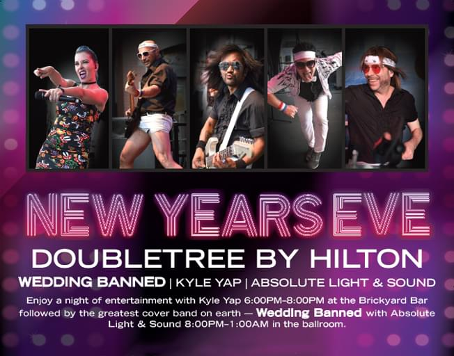 WBNQ's NYE at the DoubleTree Feat. Wedding Banned