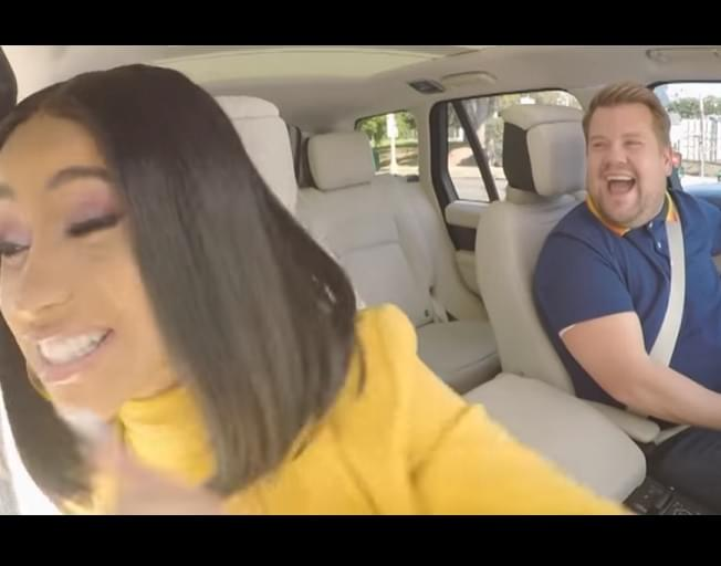Cardi B Is Up Monday For Carpool Karaoke With James Corden