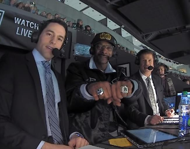 Snoop Dogg Calls Hockey Game And It's Hilarious [VIDEO]