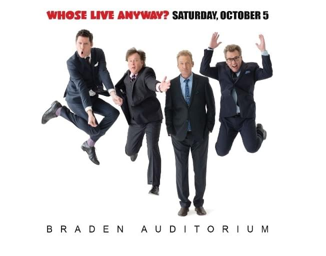Win WHOSE LIVE ANYWAY Tickets Before You Can Buy Them On The Susan Show