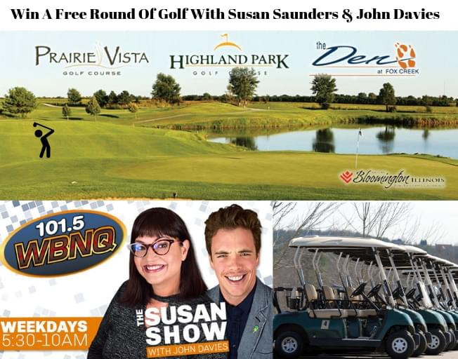 Win A Free Round Of Golf With Susan Saunders and John Davies