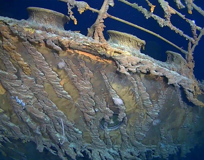 The Titanic Is Getting Swallowed Up By The Ocean Floor