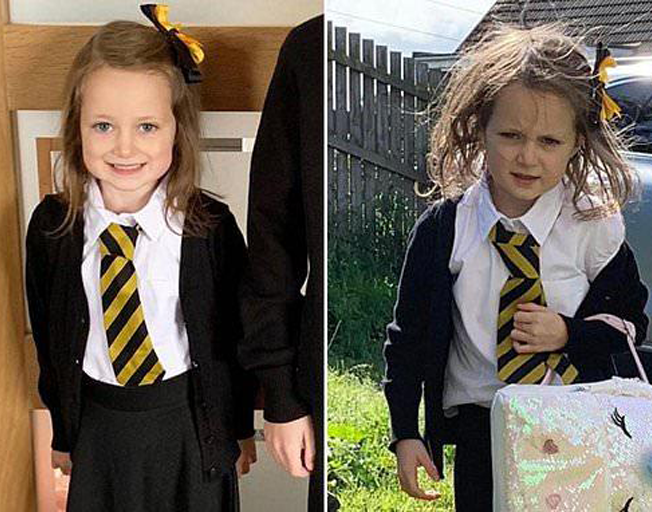 This 5-Year-Old's First Day Of School Looked Like It Was The Worst