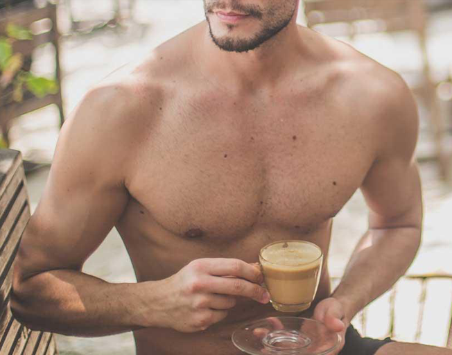 Shirtless Guys Are Baristas At This Coffee Shop