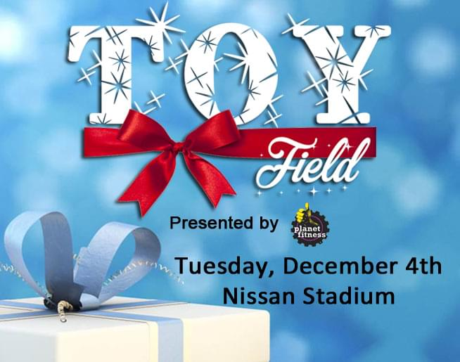 Toy Field Presented by Planet Fitness is Tuesday, December 4th!