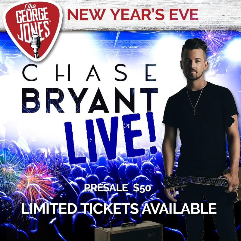 Spend New Year's Eve with Chase Bryant at The George Jones!