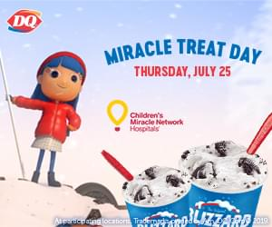 Miracle Treat Day at DQ is Coming!