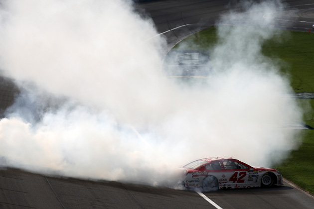 Kyle Larson California Dreamin' with a NASCAR Win at Auto Club Speedway [VIDEO, PHOTOS]